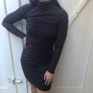 Simply Vera Wang Ruched Bodycon Dress Purple SP